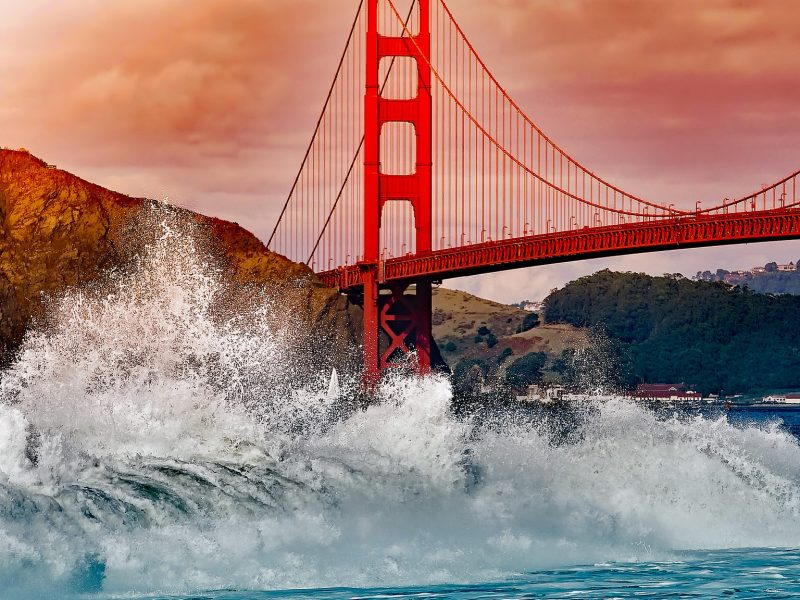The Golden Gate Bridge is not actually made of gold.