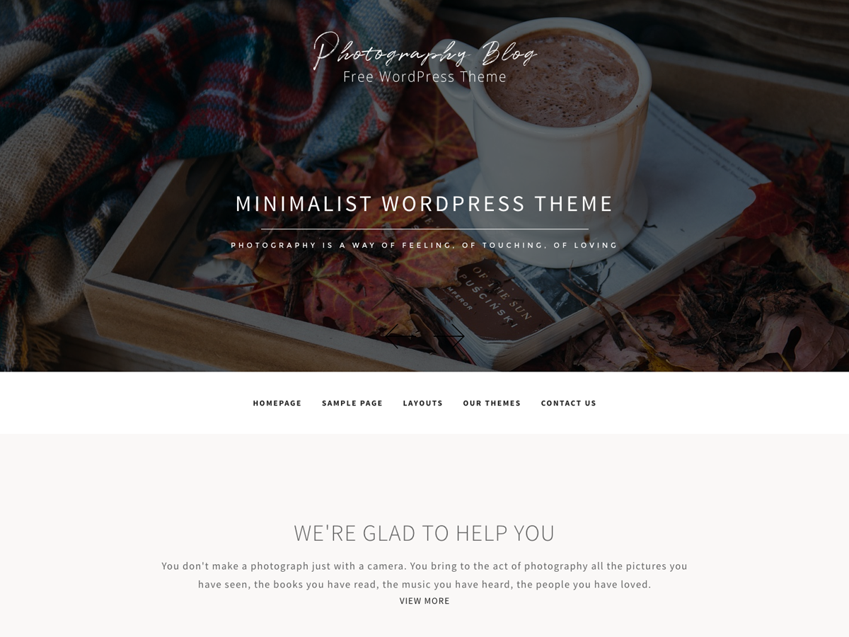 Free photography blogger templates
