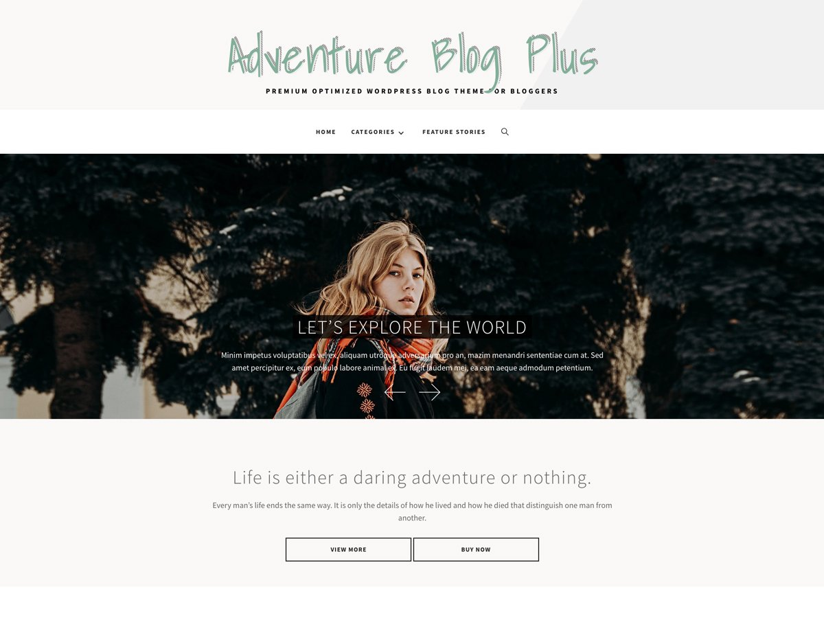 Adventure Blog Plus