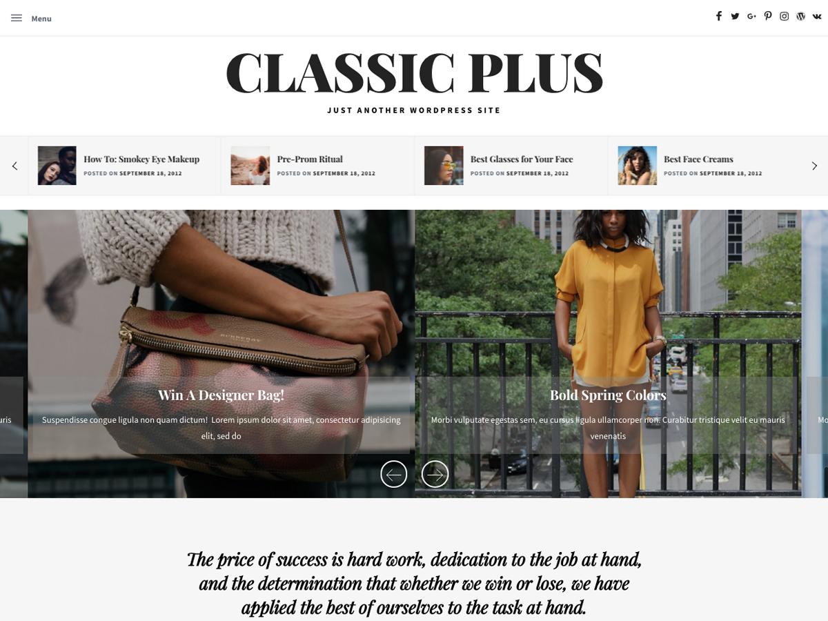 Classic Blog Plus
