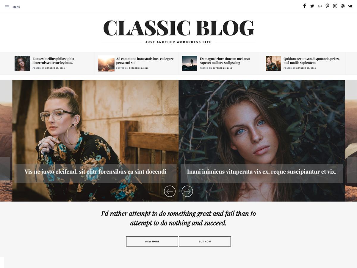Classic Blog