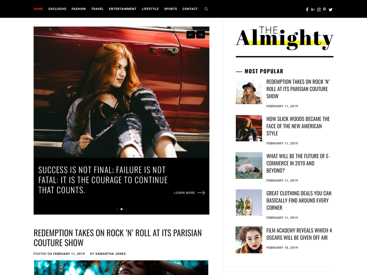 Almighty Free WordPress Theme
